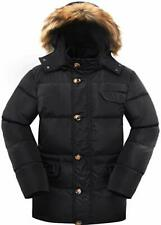 Valuker Men's Down Coat With Fur Hood With 90% Down Parka Puffer Winter Jacket