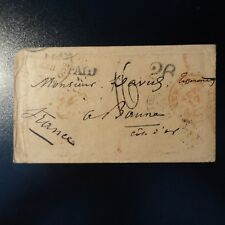 1853 LETTRE COVER MARQUE POSTALE NEW YORK USA -> BEAUNE COTE D'OR