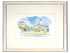 REDUCED Mary Gundry - 'Southwold Lighthouse / Beach, Suffolk' - Pen /Watercolour