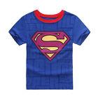 Spiderman Superman Enfants Bébé Garçon 100% Coton T-shirt Manche Courte