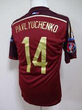 Russia #14 Pavlyuchenko 100% Original Soccer Jersey 2014/15 Home XO(M-L) [R322]