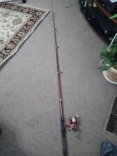 Telescopic spinning fishing rod and reel combos