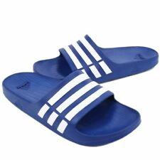 Adidas- Duramo Slide- UK13 - Pool Shoes - Blue/White