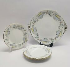 Shelley China Caprice 13782 Cake Plate & 4 Side Plates