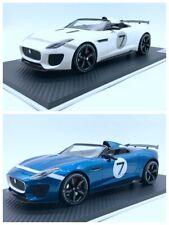 Jaguar 1/18 F-TYPE Project 7 Ecurie White & Blue Dice Cast Sport Car Model New