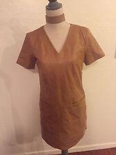 H&M Brown/Carmel Leather Dress size 8 NWT