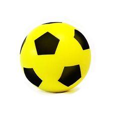 Sponge/Foam Soccer Football 20cm - Size 5 - Indoor/Outdoor Use - YELLOW,NEW