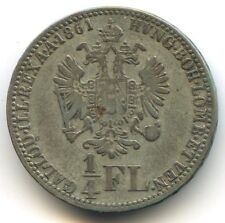 Autriche François Joseph 1/4 Florin 1861 A KM 2214