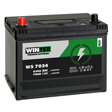 Winter Asia Autobatterie 12V 70Ah 630A/EN hohe STARTKRAFT +Pluspol Links 80Ah