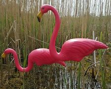 COPPIA di Rosa PRATO Pond Flamingo in plastica Garden Party Decorazioni Decor 77cm