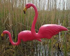 Pair Of Pink Lawn Pond Flamingo Plastic Garden Party Ornaments Decor 77cm