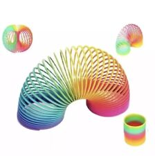 Big Size 10cm Kids Magic Plastic Rainbow Spring Colorful Children Circle Coil Elastic Ring For Christmas Birthday Gifts Toys & Hobbies