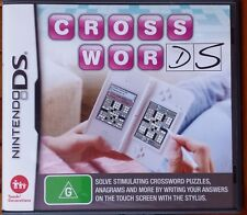 Nintendo DS Game Crosswords Manual Included Preowned Puzzle Games