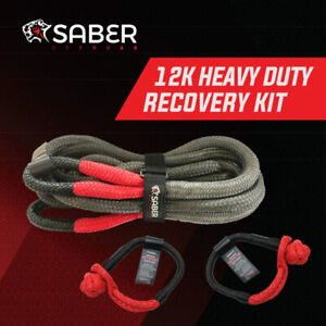 12K Heavy Duty Kinetic Recovery Kit | Saber Offroad