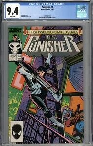 Punisher #1 CGC 9.4 NM WHITE PAGES