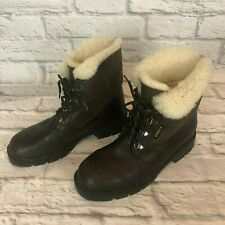 Blondo Womens Size 8 B Boots Leather Shearling Lined Lace Up Ankle Apres Ski J4i