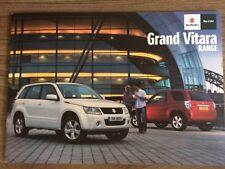 SUZUKI GRAND VITARA 2011 RANGE CAR BROCHURE. GV 3 & 5 DOOR SZ4 SZ5 SZ3 4X4 4WD