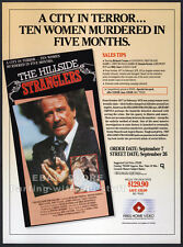 THE HILLSIDE STRANGLERS__Orig. 1990 Trade print AD__RICHARD CRENNA_DENNIS FARINA