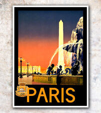 "Travel Poster Vintage Paris France Original 12x16"" Hot Rare New A224"