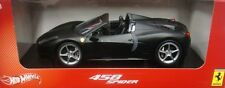 MATTEL HOT WHEELS FERRARI 458 SPIDER 1/18 PRIMER BLACK NEW X5528
