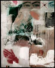 SJART  modern abstract mixed media painting