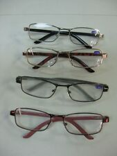 Spring Loaded Reading Glasses x 6 pairs: +1.5, 2, 2.5, +3.0 Metal Plastic