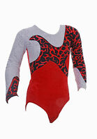 Starlight Long Sleeve Girls / Ladies / Gym / Dance / Gymnastic Leotard   Red