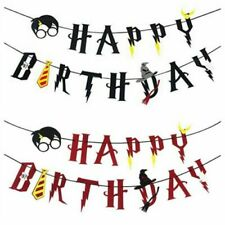 Harry Potter Banner Happy Birthday Bunting Garland Hanging Kids Party Decoration