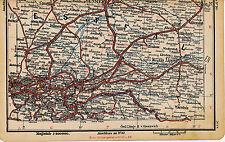 Ruhrgebiet Münster Warstein 1897 kl. Eisenbahn-Teilkarte Lippstadt Soest Dülmen