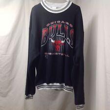 Pro Player Men Black Long Sleeve Chicago Bulls Basketball Sweat Shirt  XL  B7-8