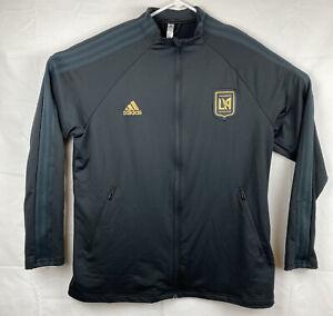 LAFC adidas 2021 Primegreen Player Anthem Full-Zip Jacket Men's XL- Black