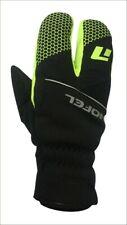 Winter Cycling Lobster Gloves Black, Yellow