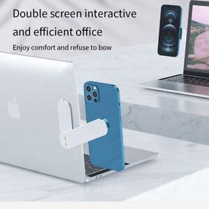 Adjustable Laptop Stand Side Phone Mount Clip Computer Monitor Expansion Bracket