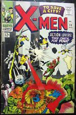 X-MEN# 23 Aug 1966 Count Nefaria Unicorn Scarecrow Eel Roth Cover/Art: 7.0 FN-VF
