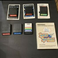 Intellivision Lot of 9 Games Sub Hunt Space Armada Mission X Space Spartans