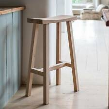 Sturdy Kitchen Dining Solid Natural Oak Wooden Breakfast Bar Chair Seat Stool