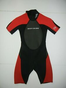 BODY GLOVE Red/Black Neoprene 2/1 MM ARC WETSUIT Shorty Surf Beach Kid YOUTH 10