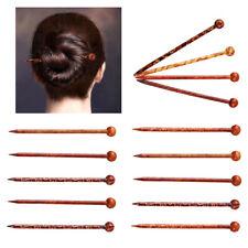 10 Stück Natürliche Unvollendete Holz Haarstab Haarnadel Haar Stäbchen