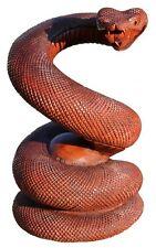 Tolle 20cm Holz Figur SCHLANGE Tier Statue Deko Handarbeit Snake Bali Snake04