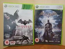Xbox 360 ~ Batman Bundle ~ Arkham City & Arkham Asylum-sehr guter Zustand und Spaß zu spielen!