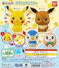 Bandai Capchara Pokemon Gashapon Pikachu Eevee Piplup Rowlet Set of 4pcs