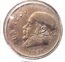 CIRCULATED 1971 UN PESO MEXICAN COIN!  (62815)