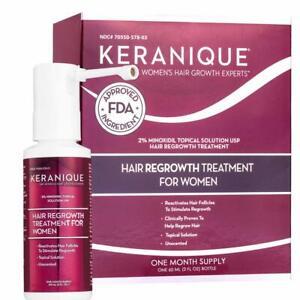 Keranique Hair Regrowth Treatment Extended Nozzle Sprayer - 2% Minoxidil, 30 Day