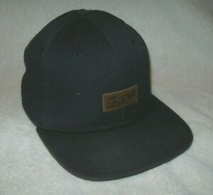 Men's OFF THE WALL Vans TAB-B Black HAT w/ LEATHER Tags SNAPBACK Adjustable