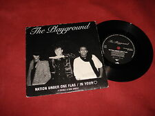 """THE PLAYGROUND Nation under one flag 7"""" NEW WAVE POP PRIVATE"""