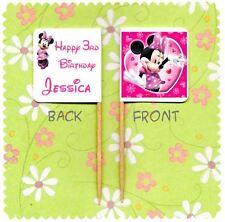 20 personalizzata Minnie Mouse Cup Cake Bandiera Partito PICK TOPPER DECORAZIONE COMPLEANNO