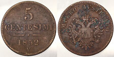 5 Centesimi 1852 V Francesco Giuseppe I Lombardo Veneto Impero Austriaco #4589A