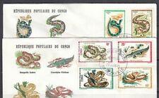 Congo Scott 243-50 FDC - Reptiles