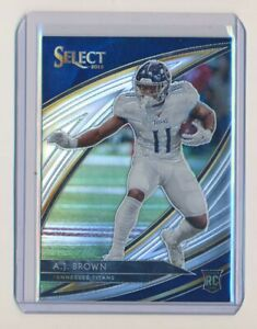 2019 SELECT AJ BROWN TITANS SILVER HOLO FIELD LEVEL ROOKIE