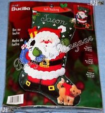 Bucilla SPECIAL DELIVERY Stocking Felt Christmas Kit -Santa,Puppy,Kitten- 84593